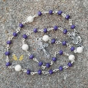 Plum Mirror Rosary